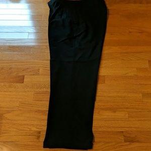 Savane black pleated trouser